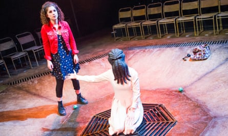 Nadia Clifford (Ollie) and Sarah Middleton (Keaton) in Pomona by Alistair McDowall.