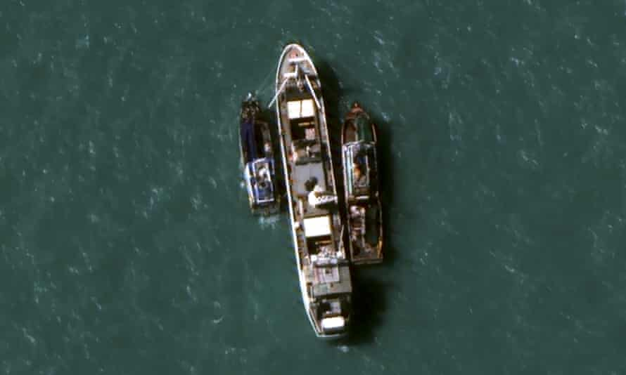 The Thai-owned Silver Sea 2 refrigerated cargo ship was seized by Indonesian authorities after being caught taking suspected slave-caught fish aboard.