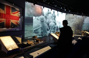Visitors at the D-day museum in Portsmouth.