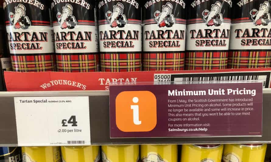Scotland was the first country to introduce minimum pricing for all alcoholic drinks.