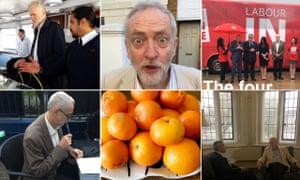 Snore! Corbyn's images on Snapchat