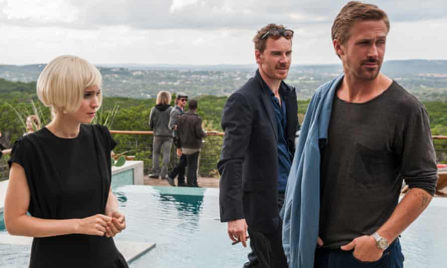 Suffering the trials of the super-rich … Rooney Mara, Michael Fassbender and Ryan Gosling.