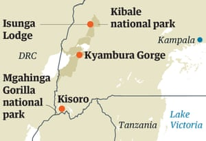 uganda national parks map