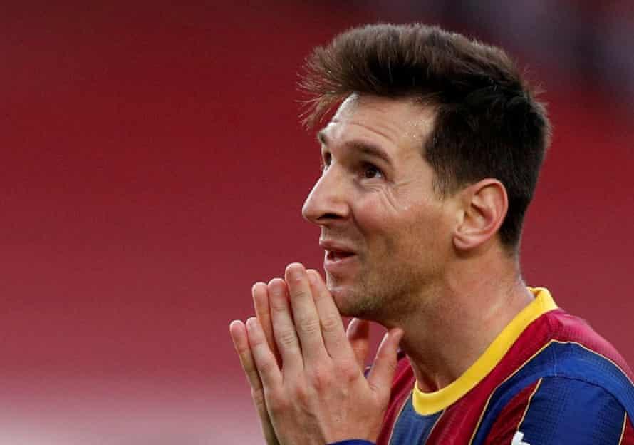 Lionel Messi against Celta Vigo in 2021.