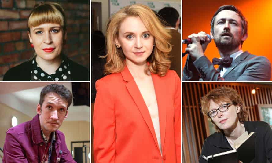 Clockwise from top left; Jan Carson, Jenn Murray, Neil Hannon, Rosemary Jenkinson and Paul Connolly