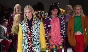 Comme des Garçons' controversial cornrow styling