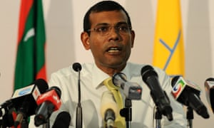 The former Maldivian president Mohamed Nasheed, pictured in 2013.