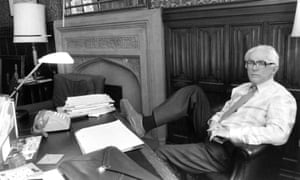 Michael Foot in his Westminster office in 1983
