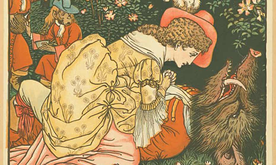 Illustration of Beauty and the Beast, one of the fairytales believed to date from thousands of years ago.