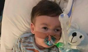 seriously ill British toddler Alfie Evans at Alder Hey Children's Hospital in Liverpool.