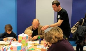 Monster Mayhem with David and Rose Simonds at the Guardian cartoon and art family day
