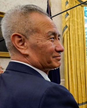 China's vice-premier Liu He at the White House.