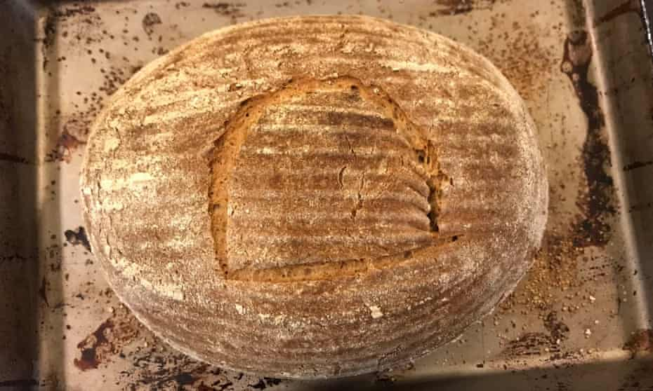 An 'unbelievably sweet and rich' sourdough loaf baked by Seamus Blackley and his team, made with yeast spores extracted from 4,500 Egyptian pots.