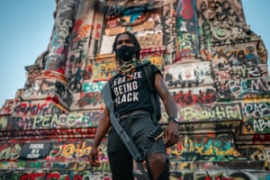 B Lovee, a Black Lives Matter protester, Richmond.