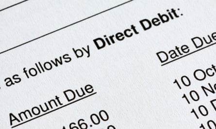 Instead of taking just one direct debit a year, money was being taken on 'a fairly arbitrary basis'.