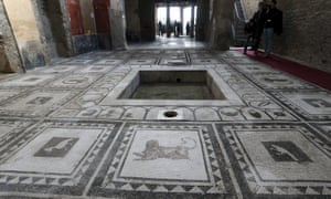 Mosaics at one of the six newly restored houses