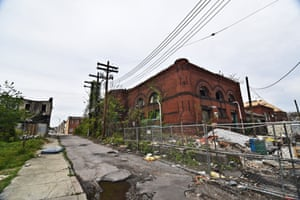 The ruined remains of the boxing gym in East Baltimore, photograph by JM Giordano
