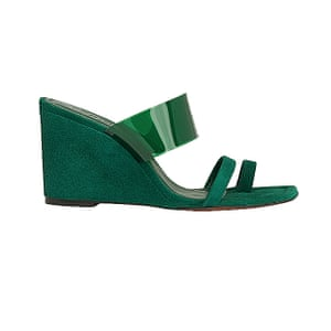 Style colour pop shoes with summer beiges and whites Green, £149, whistles.com