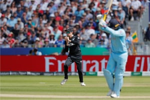 Santner takes the catch.