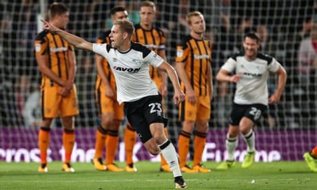 Matej Vydra's superb free-kick sparks Derby romp against Hull City