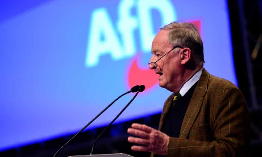 Alexander Gauland previously led the party until 2015.