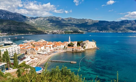 The old town in Budva, Montenegro.