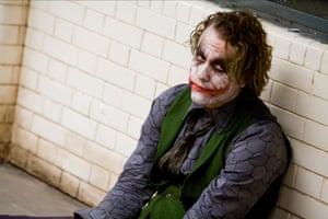 Heath Ledger in The Dark Knight.