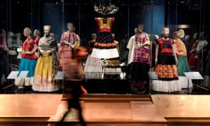 The artist's clothes on display in Frida Kahlo: Making Herself Up at the V&A museum, London
