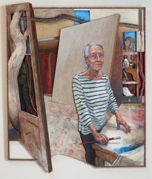 Elisabeth Cummings in her Studio at Wedderburn, 1974 and 2018 by Noel Thurgate