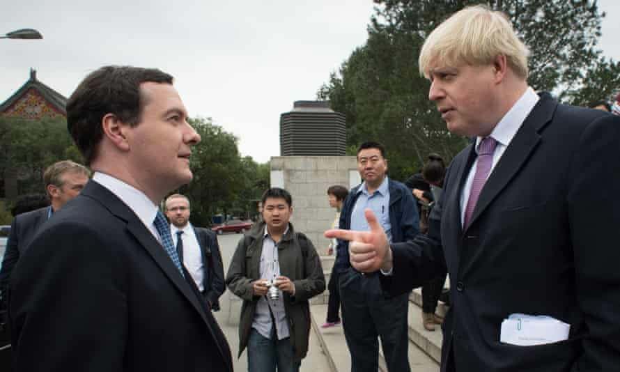 George Osborne, left, with Boris Johnson. The chancellor is now the bookmakers' favourite to be the next Tory leader.
