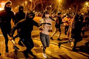 Demonstrators in Barcelona last week