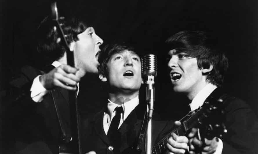 McCartney, Lennon and Harrison in concert in 1963