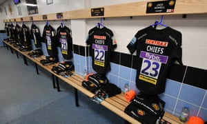 Exeter rugby dressing room