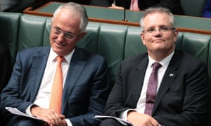 Malcolm Turnbull and Scott Morrison in parliament