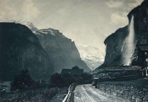 The Reichenbach Falls,  Switzerland, Circa 1870