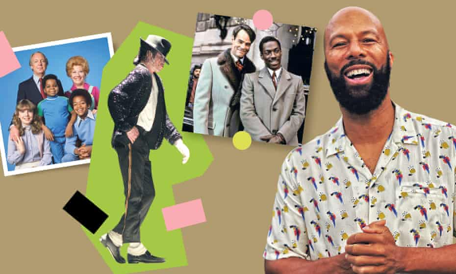 Common with his teen loves (from left): Diff'rent Strokes; Michael Jackson; Trading Places.