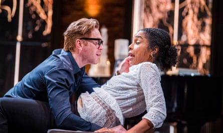 Two people staring into the abyss … Lewis as Martin with Sophie Okonedo as Stevie.