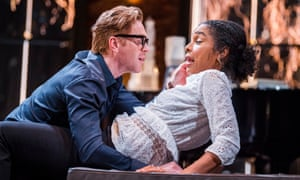 Damian Lewis and Sophie Okonedo in The Goat, Or Who Is Sylvia by Edward Albee at the Theatre Royal Haymarket, London.