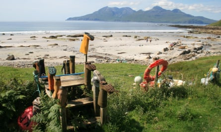Singing Sands beach on Eigg.