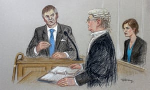 The Archers' artists' sketch of Helen Titchener's trial opening.
