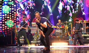'Business as usual': Coldplay at the American music awards in Los Angeles, November 2015.