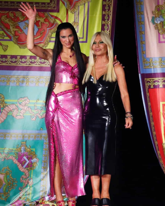 Donatella Versace and Dua Lipa