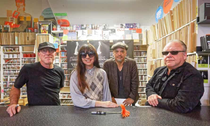 Pixies (L-R): David Lovering, Paz Lenchantin, Joey Santiago and Black Francis.