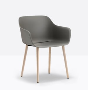 This autumn Pedrali launches its first chair collection made entirely from recycled plastic.Babila XL recycled armchair, POA, by Pedrali
