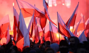 Polish flags at last year's March of Independence in Warsaw
