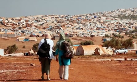 """Hallam at Atmeh camp near the Turkish border: """"This isn't a job. It's now our life."""""""