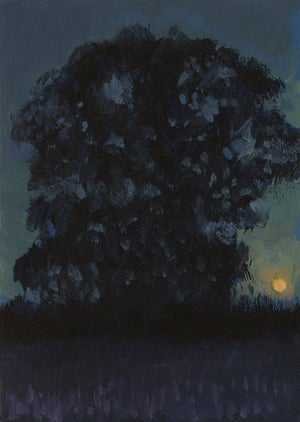 Moonrise Oil on board, 183 mm x 130 mm
