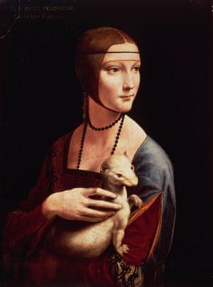 cecilia gallerani or lady with an ermine by leonardo da vinci