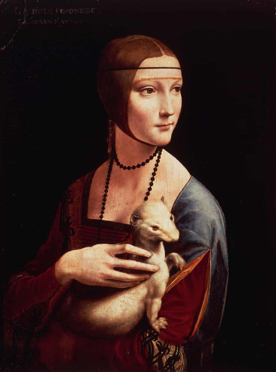 Cecilia Gallerani, or Lady with an Ermine, 1489-90, by Leonardo da Vinci
