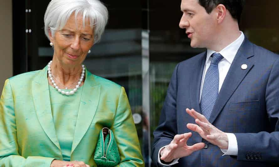 IMF managing director Christine Lagarde with George Osborne.